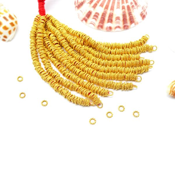 18K Gold Round Jumpring Beads, Beads  3.5X0.7mm in Teistes Wire Finishing