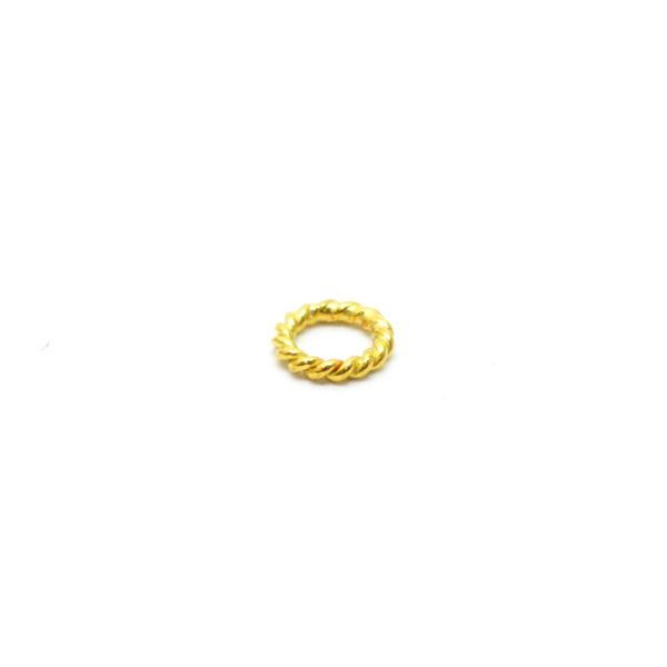 18K Gold Round Jump Ring Beads, Finding Beads In 4X0.7mm Size
