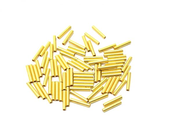 18k Solid Gold Tube Spacer Beads, 12x2 mm Spacer Finding