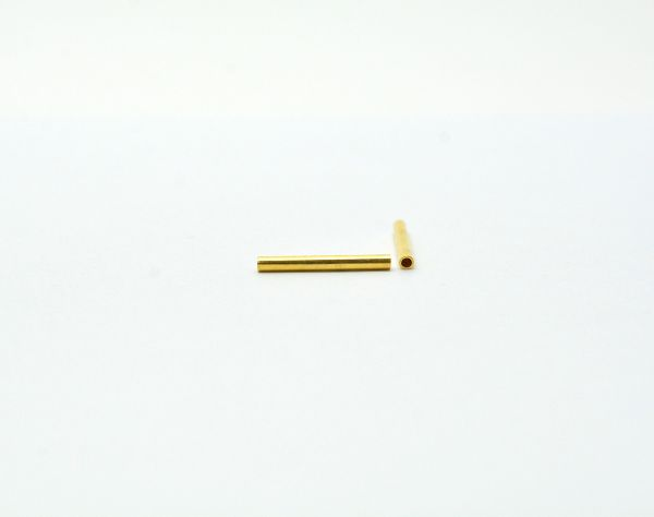 18k Solid Gold Beads in Tube Shape, 17.7X1.8 mm Beads Finding