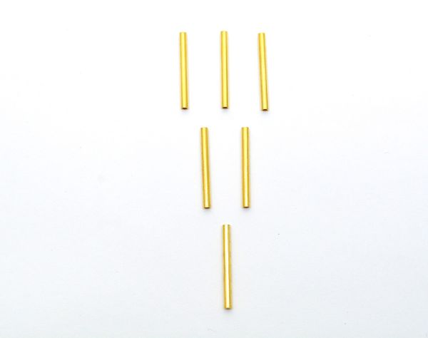 Solid 18k Gold Tube Beads For Making Jewelry - Size 21X1.8 mm