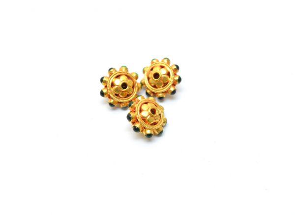 18K Solid Gold Bead, Handmade, Matt Finished Solid Gold Beads I Hydro Stone ,Beautiful Solid Gold Beads