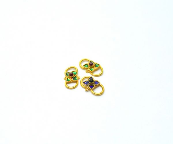 Beautiful Solid Gold Beads In Hydro Stone, Handmade, 18K Solid Gold Bead, Shape Gold Beads, Gold Beads,Sold by 1pcs