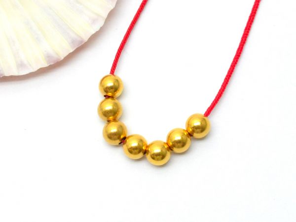 Handmade 18k Solid Yellow Gold Round Beads In A Beautiful Shiny Finish. 5mm Amazingly Handcrafted Beads In 18k Solid Gold, (Sold By 4 Pcs)