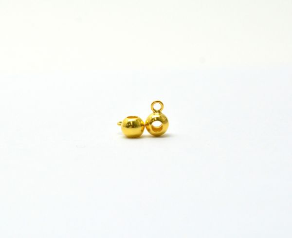 Beautiful 18k Solid Yellow Gold Round Charm Pendent. 8X5mm Handmade 18k Gold Charm Pendent in Shiny Finish. Sold By 1 pcs