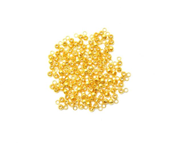 Amazingly Handmade 18k Solid Yellow Gold Round Charms in Shiny Finish. 5X3mm Beautiful Charm in 18k Solid Gold, (Sold By 4 Pcs)