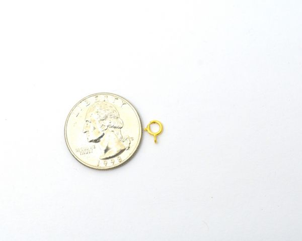 Handcrafted 18k Solid Yellow Gold Lobster Lock in Matt Finish. 7.5X5mm Beautiful Lobster Lock in 18k Solid Gold, (Sold By 5 Piece)