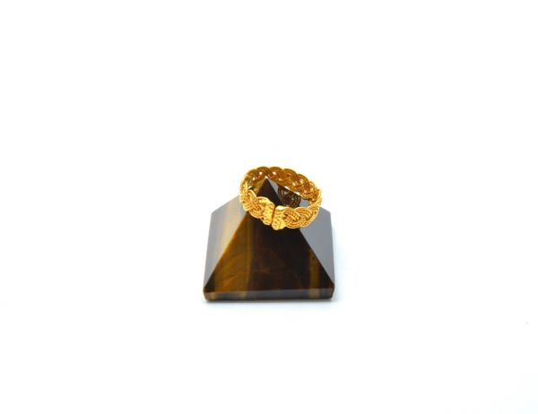 Stunning 18k Yellow Gold Ring Studded With Hydro Stones. Beautiful Handmade Free Size Ring in 18k Solid Yellow Gold. Sold by 1pcs