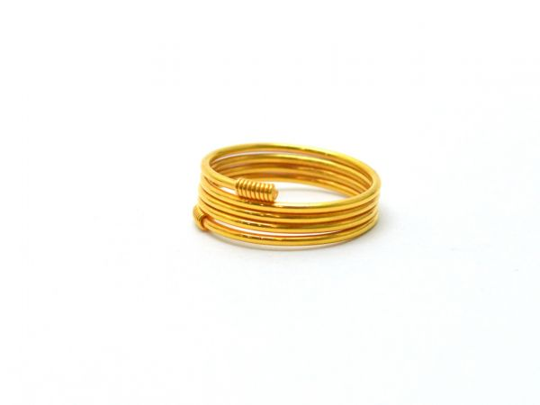 18K Handmade Solid Yellow Gold Ring Studded . Amazingly Crafted Free Size Ring in 18k Solid Gold, Sold By 1pcs