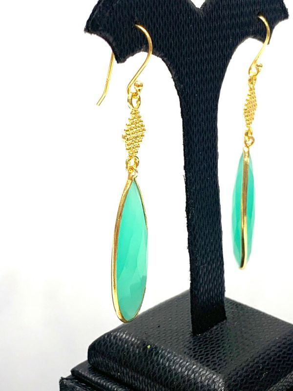 Beautiful Handmade 925 Sterling Silver Earring With Natural Labradorite in 6.1Cm, Sold By 1 Pair